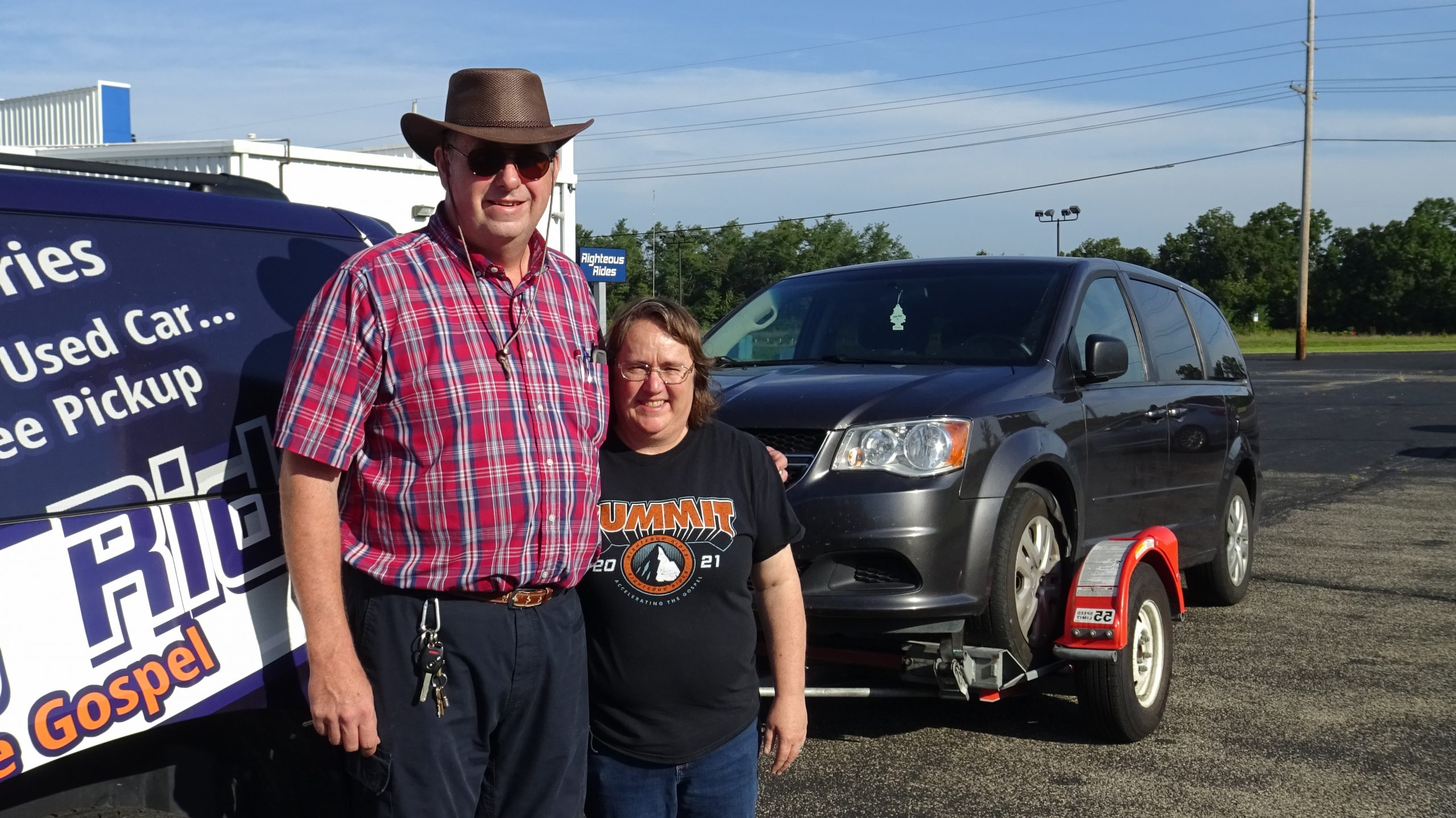 Ron Rearick with Donated Vehicle